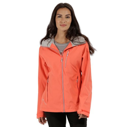 Regatta WOMEN'S BIRCHDALE WATERPROOF SHELL JACKET - Neon Peach